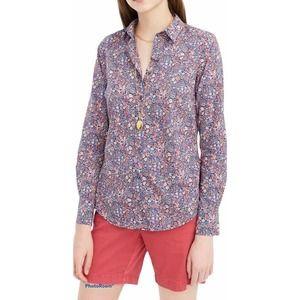 J Crew Perfect Shirt Liberty Kayoko Blue Floral 22